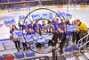 West Genesee Wildcats students on hand for the the Section III, Division I Championship game against the Syracuse Cougars at the War Memorial Arena in Syracuse, New York on Saturday, February 25, 2017.