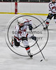 Baldwinsville Bees Dan Stehle (28) fires the puck at the Watertown IHC Cavaliers net in NYSPHSAA Section III Boys Ice hockey action at the Lysander Ice Arena in Baldwinsville, New York on Tuesday, November 28, 2017. Baldwinsville won 7-1.