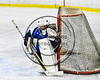 Watertown IHC Cavaliers goalie Stefon Lucidi (31) in net against the Baldwinsville Bees in NYSPHSAA Section III Boys Ice hockey action at the Lysander Ice Arena in Baldwinsville, New York on Tuesday, November 28, 2017. Baldwinsville won 7-1.