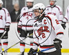 Baldwinsville Bees Tanner McCaffrey (2) being introduced before playing the Watertown IHC Cavaliers in a NYSPHSAA Section III Boys Ice hockey game at the Lysander Ice Arena in Baldwinsville, New York on Tuesday, November 28, 2017.