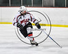 Baldwinsville Bees Ryan Gillespie (7) on the ice against the Watertown IHC Cavaliers in NYSPHSAA Section III Boys Ice hockey action at the Lysander Ice Arena in Baldwinsville, New York on Tuesday, November 28, 2017. Baldwinsville won 7-1.