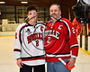 Baldwinsville Bees Tanner McCaffrey (2) honors Mr. Young on Teacher Appreciation Night at the Lysander Ice Arena in Baldwinsville, New York on Tuesday, January 9, 2018.