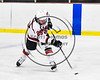 Baldwinsville Bees Cody McCarthy (29) fires the puck at the Fulton Red Raiders net in NYSPHSAA Section III Boys Ice hockey action at the Lysander Ice Arena in Baldwinsville, New York on Tuesday, January 9, 2018. Baldwinsville won 9-1.