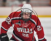Baldwinsville Bees Mark Monaco (22) before a face-off against the RFA Black Knights in Section III Boys Ice Hockey action at the John F. Kennedy Arena in Rome, New York on Tuesday, January 23, 2018. Baldwinsville won 4-2.