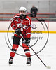 Baldwinsville Bees Brendan Wilcox (18) before a face-off against the RFA Black Knights in Section III Boys Ice Hockey action at the John F. Kennedy Arena in Rome, New York on Tuesday, January 23, 2018. Baldwinsville won 4-2.