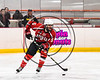 Baldwinsville Bees Isaiah Pompo (5) skating with the puck against the RFA Black Knights in Section III Boys Ice Hockey action at the John F. Kennedy Arena in Rome, New York on Tuesday, January 23, 2018. Baldwinsville won 4-2.