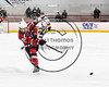 Baldwinsville Bees Cameron Sweeney (21) fires the puck at the RFA Black Knights net in Section III Boys Ice Hockey action at the John F. Kennedy Arena in Rome, New York on Tuesday, January 23, 2018. Baldwinsville won 4-2.