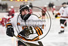 RFA Black Knights Michael Bostwick (4) warming up before playing the Baldwinsville Bees in a Section III Boys Ice Hockey game at the John F. Kennedy Arena in Rome, New York on Tuesday, January 23, 2018.