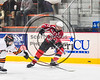 Baldwinsville Bees Ben Dwyer (17) fires the puck at the RFA Black Knights net in Section III Boys Ice Hockey action at the John F. Kennedy Arena in Rome, New York on Tuesday, January 23, 2018. Baldwinsville won 4-2.