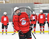 Baldwinsville Bees host the Whitesboro Warriors in NYSPHSAA Section III Boys Ice hockey action at the Lysander Ice Arena in Baldwinsville, New York on Saturday, January 27, 2018.