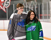 Cicero-North Syracuse Northstars Holden Sarosy (2) honoring a teacher at the Cicero Twin Rinks in Cicero, New York on Tuesday, January 30, 2018.