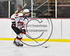 Baldwinsville Bees Zach Hall (16) skating with the puck against the Ithaca Little Red in NYSPHSAA Section III Boys Ice hockey action at the Lysander Ice Arena in Baldwinsville, New York on Friday, February 9, 2018. Ithaca won 1-0.