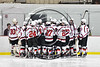 Baldwinsville Bees huddle up before playing the Mohawk Valley Raiders in a NYSPHSAA Section III Boys Ice hockey playoff game at the Lysander Ice Arena in Baldwinsville, New York on Friday, February 16, 2018.