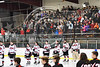 Baldwinsville Bees Pep Band plays the National Anthem before the Bees and Mohawk Valley Raiders NYSPHSAA Section III Boys Ice hockey playoff game at the Lysander Ice Arena in Baldwinsville, New York on Friday, February 16, 2018.