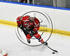 Baldwinsville Bees Mark Monaco (22) skating with the puck against the West Genesee Wildcats in NYSPHSAA Section III Boys Ice hockey playoff action at Shove Park in Camillus, New York on Wednesday, February 21, 2018. Baldwinsville won 2-1 in a Shootout.