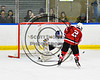 Baldwinsville Bees Tanner McCaffrey (2) fires the puck at West Genesee Wildcats goalie Aidan Procopio (30) in NYSPHSAA Section III Boys Ice hockey playoff shootout action at Shove Park in Camillus, New York on Wednesday, February 21, 2018. Baldwinsville won 2-1 in a Shootout.