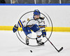 West Genesee Wildcats Ryan Washo (5) skating with the puck against the Baldwinsville Bees in NYSPHSAA Section III Boys Ice hockey playoff action at Shove Park in Camillus, New York on Wednesday, February 21, 2018. Baldwinsville won 2-1 in a Shootout.