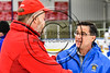 Baldwinsville Bees defeated the West Genesee Wildcats in NYSPHSAA Section III Boys Ice hockey playoff action at Shove Park in Camillus, New York on Wednesday, February 21, 2018. Baldwinsville won 2-1 in a Shootout.