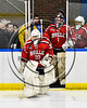 Baldwinsville Bees goalie Jeremy Rappard (30) leads his team to the ice before playing the West Genesee Wildcats in a NYSPHSAA Section III Boys Ice hockey playoff game at Shove Park in Camillus, New York on Wednesday, February 21, 2018.