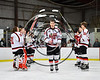 Baldwinsville Bees Brett Sabourin (10) being introduced for Senior Night at the Lysander Ice Arena in Baldwinsville, New York on Friday, February 9, 2018.