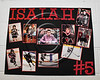 Baldwinsville Bees Isaiah Pompo (5) poster for Senior Night at the Lysander Ice Arena in Baldwinsville, New York on Friday, February 9, 2018.
