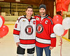 Baldwinsville Bees Michael Carni (6) honors Mr. Deemer on Teacher Appreciation Night at the Lysander Ice Arena in Baldwinsville, New York on Tuesday, December 18, 2018.