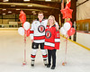 Baldwinsville Bees Christian Ficarra (17) honors Mrs. Collins on Teacher Appreciation Night at the Lysander Ice Arena in Baldwinsville, New York on Tuesday, December 18, 2018.