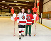 Baldwinsville Bees Nick Glamos (14) honors Mr. Legro on Teacher Appreciation Night at the Lysander Ice Arena in Baldwinsville, New York on Tuesday, December 18, 2018.