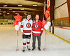 Baldwinsville Bees Matt Carner (9) honors Mr. Galvin on Teacher Appreciation Night at the Lysander Ice Arena in Baldwinsville, New York on Tuesday, December 18, 2018.
