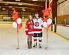 Baldwinsville Bees Alexander Pompo (5) honors Mrs. Fasulo on Teacher Appreciation Night at the Lysander Ice Arena in Baldwinsville, New York on Tuesday, December 18, 2018.