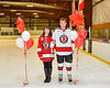 Baldwinsville Bees Quinn Sweeney (4) honors Mrs. Capone on Teacher Appreciation Night at the Lysander Ice Arena in Baldwinsville, New York on Tuesday, December 18, 2018.