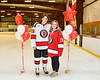 Baldwinsville Bees Michael Marsallo (19) honors Mrs. Witte on Teacher Appreciation Night at the Lysander Ice Arena in Baldwinsville, New York on Tuesday, December 18, 2018.