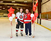 Baldwinsville Bees Cameron Sweeney (21) honors Coach San Filippo on Teacher Appreciation Night at the Lysander Ice Arena in Baldwinsville, New York on Tuesday, December 18, 2018.