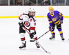 Baldwinsville Bees Parker Schroeder (8) on the ice against the CBA/JD Brothers in NYSPHSAA Section III Boys Ice Hockey action at the Lysander Ice Arena in Baldwinsville, New York on Tuesday, December 18, 2018. Baldwinsville won 3-1.