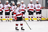 Baldwinsville Bees Christian Treichler (33) being introduced before playing the CBA/JD Brothers in a NYSPHSAA Section III Boys Ice Hockey game at the Lysander Ice Arena in Baldwinsville, New York on Tuesday, December 18, 2018.