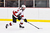 Baldwinsville Bees Luke Hoskin (16) skating with the puck against the CBA/JD Brothers in NYSPHSAA Section III Boys Ice Hockey action at the Lysander Ice Arena in Baldwinsville, New York on Tuesday, December 18, 2018. Baldwinsville won 3-1.