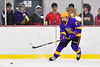 CBA/JD Brothers Justin Thies (7) passes the puck against the Baldwinsville Bees in NYSPHSAA Section III Boys Ice Hockey action at the Lysander Ice Arena in Baldwinsville, New York on Tuesday, December 18, 2018. Baldwinsville won 3-1.