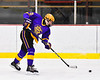 CBA/JD Brothers Isaiah Raby (10) fires the puck at the Baldwinsville Bees net in NYSPHSAA Section III Boys Ice Hockey action at the Lysander Ice Arena in Baldwinsville, New York on Tuesday, December 18, 2018. Baldwinsville won 3-1.
