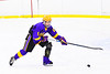 CBA/JD Brothers Finn Wheeler (8) with the puck against the Baldwinsville Bees in NYSPHSAA Section III Boys Ice Hockey action at the Lysander Ice Arena in Baldwinsville, New York on Tuesday, December 18, 2018. Baldwinsville won 3-1.