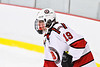Baldwinsville Bees Michael Marsallo (19) before a face-off against the CBA/JD Brothers in NYSPHSAA Section III Boys Ice Hockey action at the Lysander Ice Arena in Baldwinsville, New York on Tuesday, December 18, 2018. Baldwinsville won 3-1.