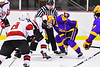 Baldwinsville Bees host the CBA/JD Brothers in NYSPHSAA Section III Boys Ice Hockey action at the Lysander Ice Arena in Baldwinsville, New York on Tuesday, December 18, 2018. Baldwinsville won 3-1.