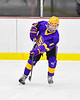 CBA/JD Brothers Finn Wheeler (8) passes the puck against the Baldwinsville Bees in NYSPHSAA Section III Boys Ice Hockey action at the Lysander Ice Arena in Baldwinsville, New York on Tuesday, December 18, 2018. Baldwinsville won 3-1.