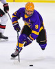 CBA/JD Brothers Kodi Dotterer (9) skating with the puck against the Baldwinsville Bees in NYSPHSAA Section III Boys Ice Hockey action at the Lysander Ice Arena in Baldwinsville, New York on Tuesday, December 18, 2018. Baldwinsville won 3-1.