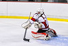 Baldwinsville Bees goalie Tommy Blais (31) makes a stick save against the CBA/JD Brothers in NYSPHSAA Section III Boys Ice Hockey action at the Lysander Ice Arena in Baldwinsville, New York on Tuesday, December 18, 2018. Baldwinsville won 3-1.
