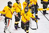 Ontario Storm Tucker Bovee (21) being introduced before playing the Baldwinsville Bees in a NYSPHSAA Section III Boys Ice hockey game at Haldane Memorial Arena in Pulaski, New York on Thursday, December 20, 2018.
