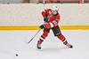 Baldwinsville Bees Casey Scott (20) fires the puck at the Ontario Storm net in NYSPHSAA Section III Boys Ice hockey action at Haldane Memorial Arena in Pulaski, New York on Thursday, December 20, 2018. Baldwinsville won 12-0.