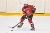 Baldwinsville Bees Jamey Natoli (25) looking to make a play against the Ontario Storm in NYSPHSAA Section III Boys Ice hockey action at Haldane Memorial Arena in Pulaski, New York on Thursday, December 20, 2018. Baldwinsville won 12-0.