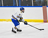 West Genesee Wildcats Chris Kleberg (25) with the puck against the Baldwinsville Bees in NYSPHSAA Section III Boys Ice hockey action at Shove Park in Camillus, New York on Tuesday, January 29, 2019. West Genesee won 5-1.