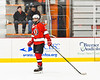 Baldwinsville Bees Christian Treichler (33) being introduced before playing the Rome Free Academy Black Knights in a NYSPHSAA Section III Boys Ice hockey playoff game at John F. Kennedy Civic Arena in Rome, New York on Friday, February 15, 2019.