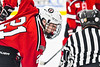 Baldwinsville Bees Cameron Sweeney (21) before a face-off against the Rome Free Academy Black Knights in NYSPHSAA Section III Boys Ice hockey playoff action at John F. Kennedy Civic Arena in Rome, New York on Friday, February 15, 2019. Baldwinsville won 5-3.